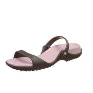 Crocs Cleo Sandals Slip on Brown Women's Size 7